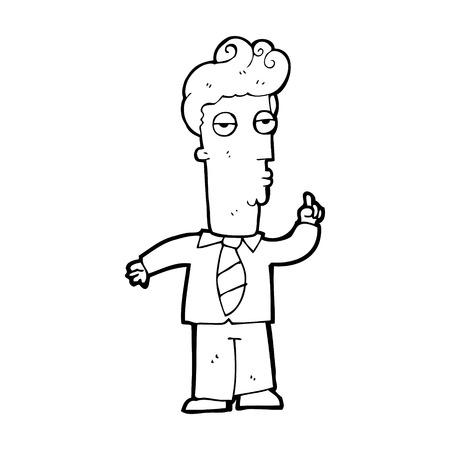 cartoon bored man asking question