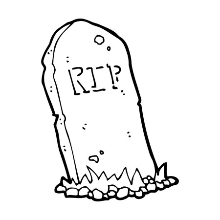 cartoon spookachtige graf
