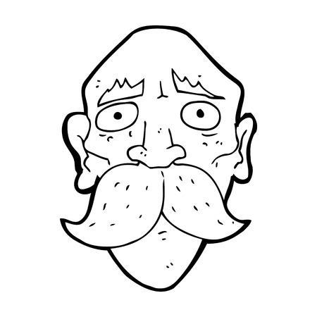 cartoon sad old man Vector