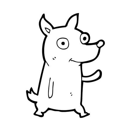 cartoon little dog waving Stock Vector - 25011371