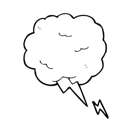thundercloud: simbolo del fumetto nube temporalesca Vettoriali