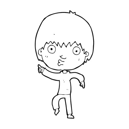 impressed: cartoon impressed boy pointing