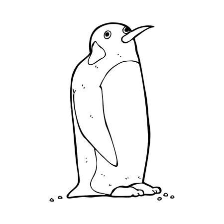 pinguino caricatura: Ping�ino de la historieta