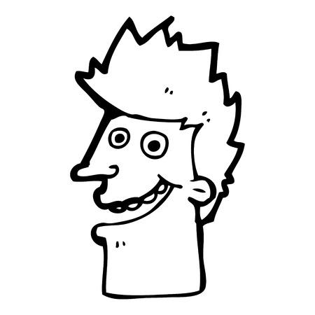 man face: cartoon happy man face Stock Illustratie