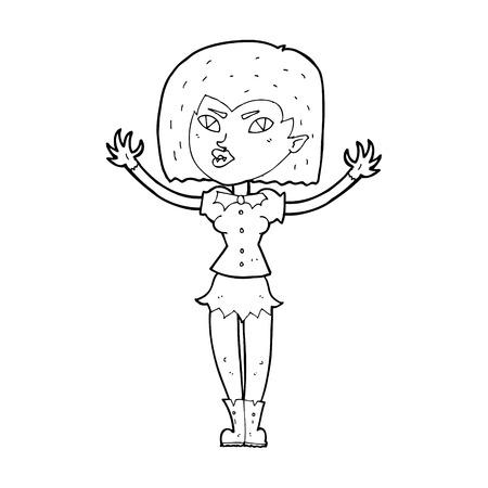 spook: cartoon vampire girl