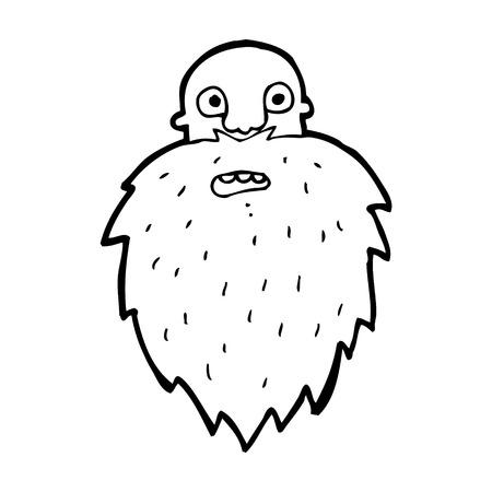 bearded man: cartoon bearded man Illustration