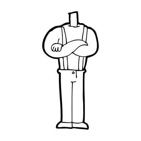 cartoon lichaam met gevouwen armen (mix en match cartoons of voeg eigen foto's) Vector Illustratie