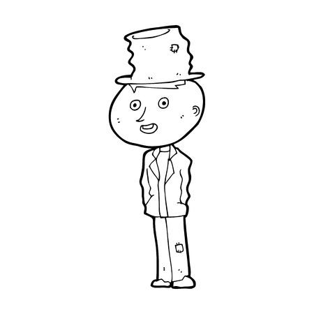 hobo: cartoon funny hobo man