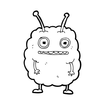 cartoon funny alien monster Stock Vector - 25010926