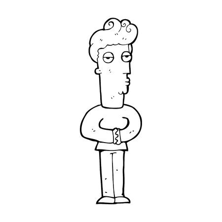 jaded: cartoon jaded man Illustration