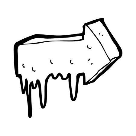 slimy: cartoon slimy pointing arrow