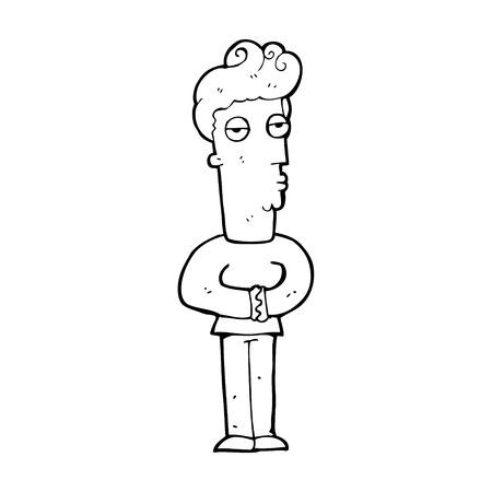 jaded: cartoon arrogant man Illustration