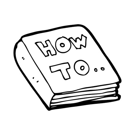 how to: cartoon how to book Illustration