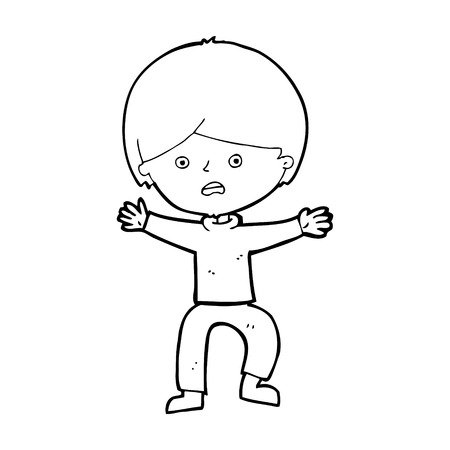 panicking: cartoon boy panicking Illustration