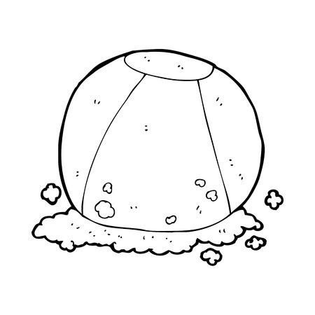 playa caricatura: bola de playa de la historieta