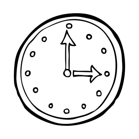 cartoon clock: cartoon clock symbol