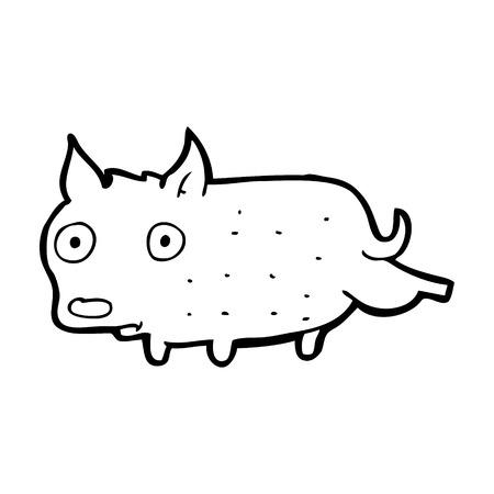 cocking: cartoon little dog cocking leg