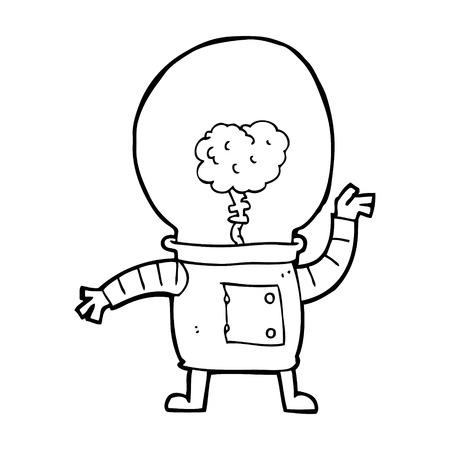 robot caricatura: cyborg robot de dibujos animados