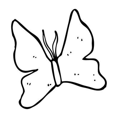 cartoon butterfly: s�mbolo de la mariposa de la historieta