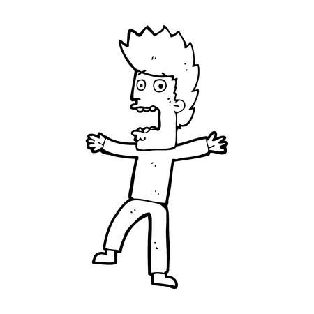 terrified: cartoon terrified man