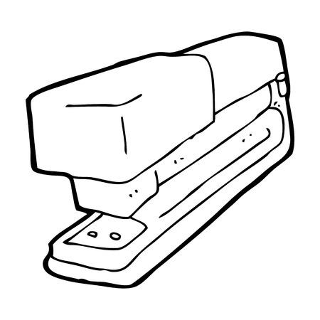 office stapler: cartoon office stapler