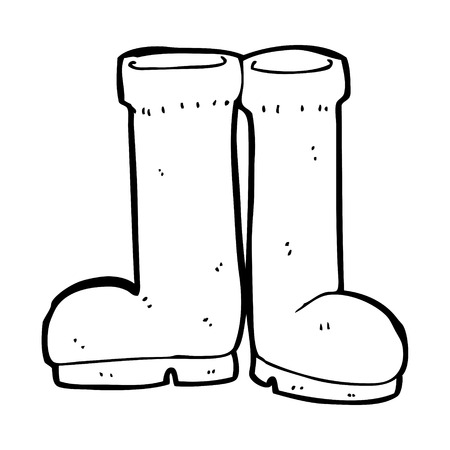 rubberboots: Cartoon Gummistiefel Illustration