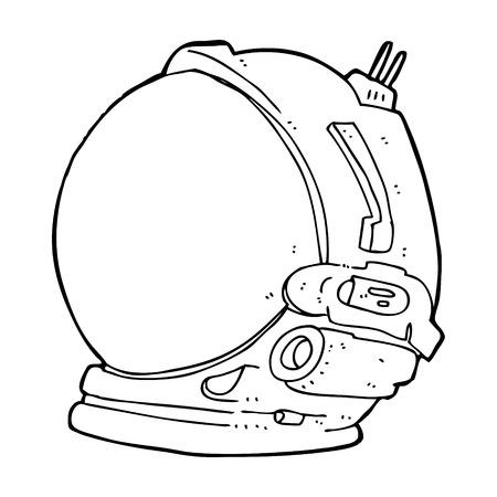 cartoon astronaut helmet