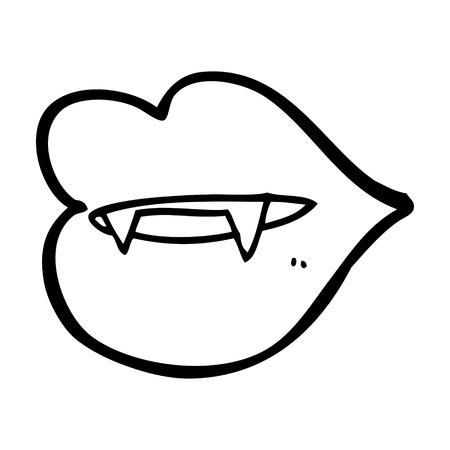 pout: cartoon vampire fangs