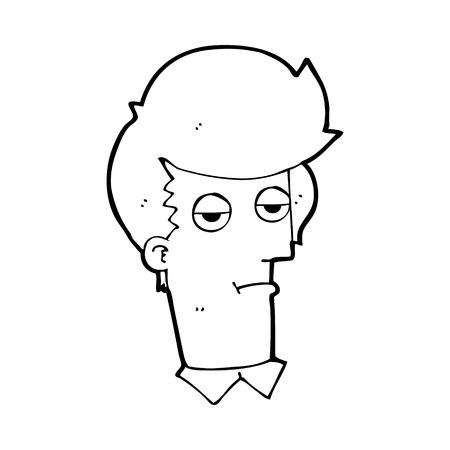 bored man: cartoon bored man Illustration