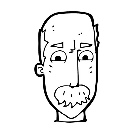 annoyed: cartoon annoyed old man Illustration