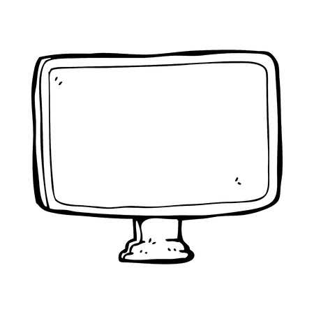 computer screen: schermo del computer del fumetto