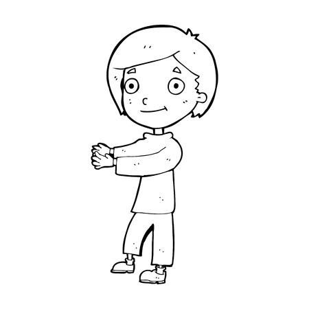 cartoon happy boy Stock Vector - 25009627