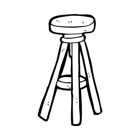 stool: cartoon stool Illustration