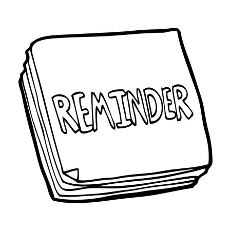 cartoon reminder notes Illustration