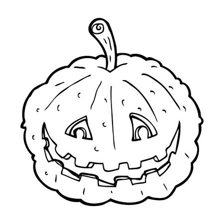 smilling: cartoon grinning pumpkin Illustration