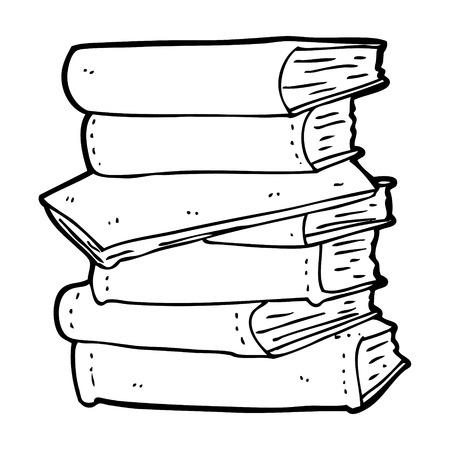 cartoon pile of books Ilustracja