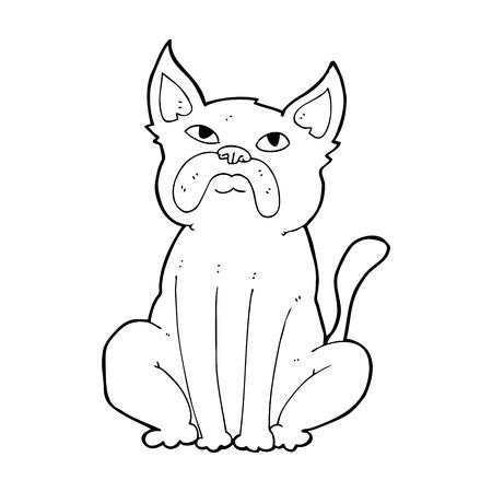 grumpy: cartoon grumpy little dog Illustration
