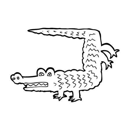 cartoon crocodile Vector