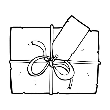 wrapped present: cartoon wrapped present