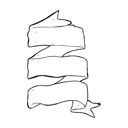 cartoon three layer scroll banner royalty free cliparts vectors