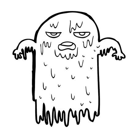 slimy: cartoon slimy ghost