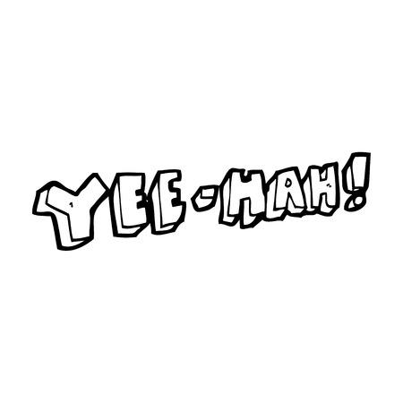 cartoon yeehah symbol