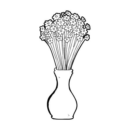 cartoon flowers in pot Vector