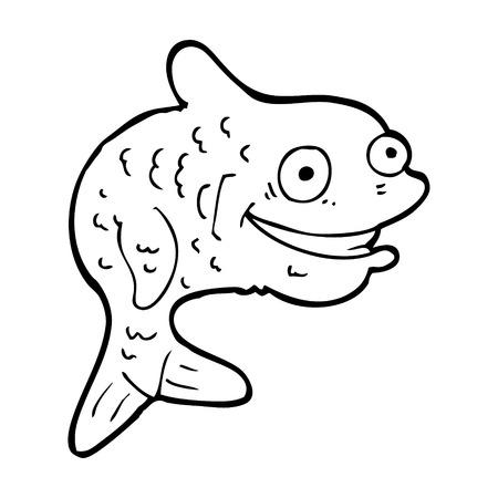 simple fish: cartoon happy fish