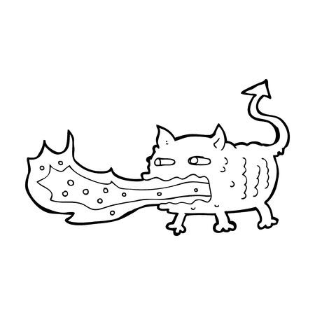 cartoon fire: cartoon fire breathing imp