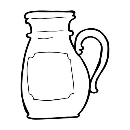cartoon jug Vector