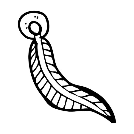 keyring: cartoon feather keyring Illustration