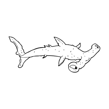 cartoon hammerhead shark Vector
