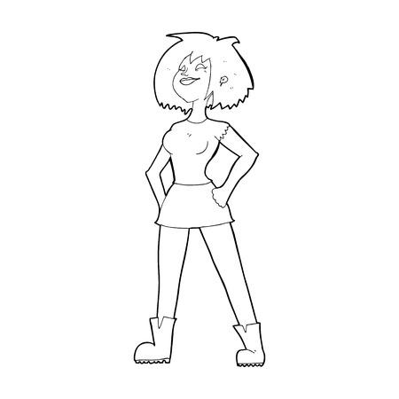 capable: cartoon capable woman