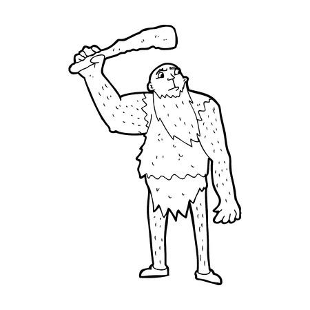 neanderthal: cartoon neanderthal Illustration